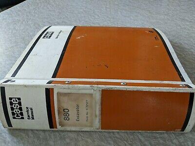 Case 880 Crawler Excavator Service Manual Parts Catalog Shop Binder Backhoe
