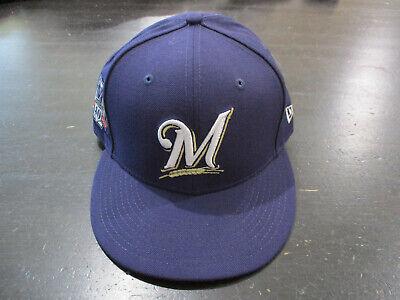 New Era Milawaulkee Brewers Baseball Hat Cap Fitted Size 7 1/2 40 Seasons MLB