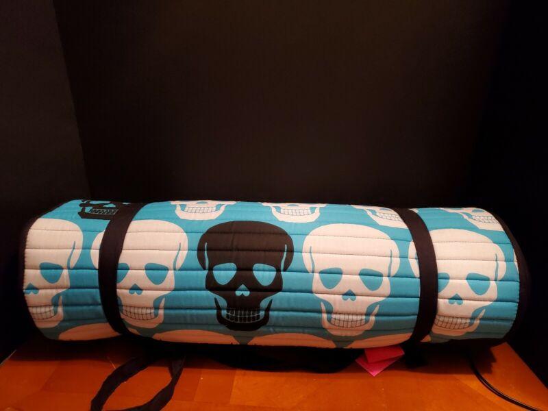 Betsey Johnson Yoga Beach Mat With Pillow NWT Skulls