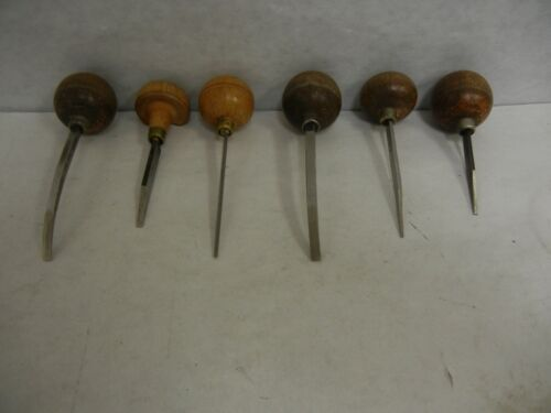 Vintage Lot of 6 Gravers E.C. Muller Lyons Exc Cond.
