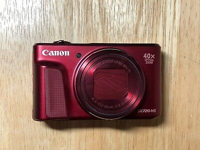 Canon PowerShot SX720 HS Digital Camera 20.3 MP - Red