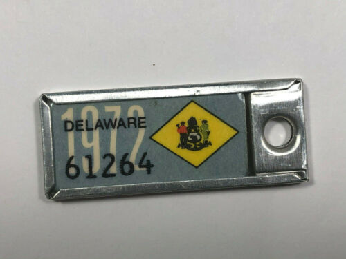 1972 DELAWARE DAV License Plate Tag 61264 Disabled American Veteran.