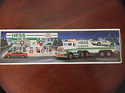 1991 Hess Toy Truck and Racer w/Box