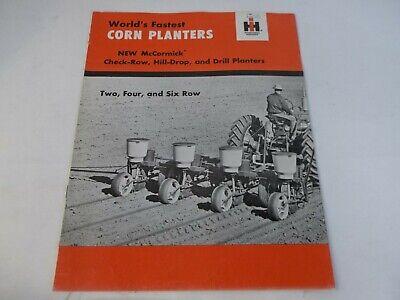 Ih Mccormick Corn Planters 2 4 6-row Sales Brochure