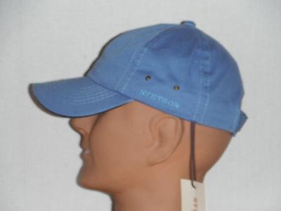 STETSON cotton baseball CAP hat NEW color LIGHT BLUE - Light Blue Fedora