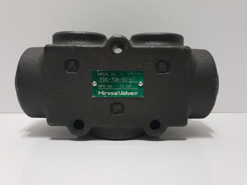 Hirose Valves FDC-T06-50-61 Flow Divider/Combiner Valve BSPT 16 GPM - 60 L/Min