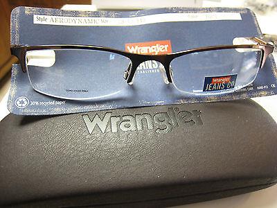 WRANGLER  EYEGLASS FRAMES Style  AERODYNAMIC  BROWN  53-18-140 W/ ASTORIA (Eyeglass Style)
