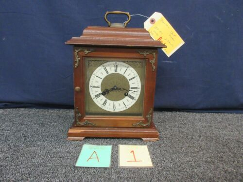 Hamilton Shelf Mantle Clock Vintage Two 2 Jewel West Germany 150-010 3 Chime