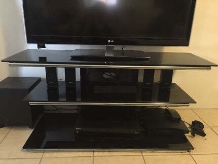 Bing Lee glass and metal TV stand cost $450 brand new Old Toongabbie Parramatta Area Preview