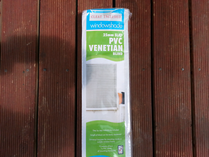Brand new venetian blind 1.80 length x 2.10 drop stone colour