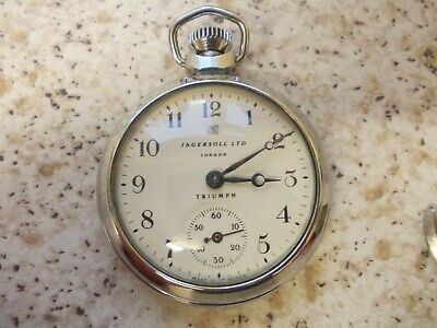 ingersoll triumph pocket watch.made in Great Britain.dated to 1961
