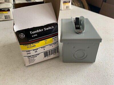 One 1 Genuine Ge Tc2368 Tumbler Motor Switch 240v 30 Amp 3 Pole Nos