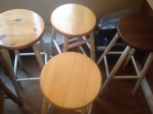 "29"" tall stools $10 each, 4 stools total"
