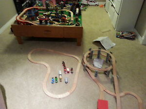 3 Wooden train sets