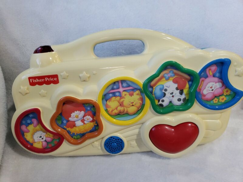 Vtg Fisher Price Slumbertime Soother 1998 crib toy Rocka bye baby song Lights up