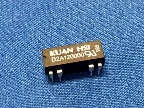 ** NEW ** 5pcs Cosmo Kuan HSI D2A120000 12V DC TTL DPST DIP Relay 14-pin 0.5Amp