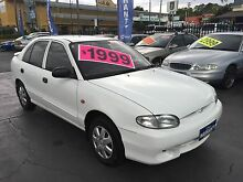 1998 Hyundai Excel Hatch 1YR WARRANTY! REGO! REDUCED WK'D SALE!! Ashfield Ashfield Area Preview
