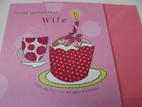 To My Wonderful Wife........ Birthday Greetings Card - second nature - ebay.co.uk