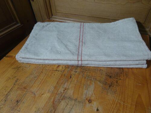 Antique European Feed Sack GRAIN SACK Red Stripe # 10410