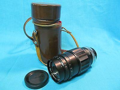 Exa Exakta Komura Sankyo Kaki 135Mm F3 5 Telephoto Lens With Case