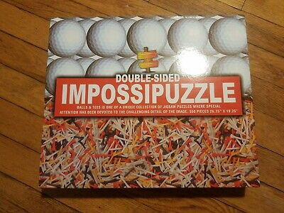 Golf ImpossiPuzzle Double-Sided, Balls and Tees - 550 Pieces