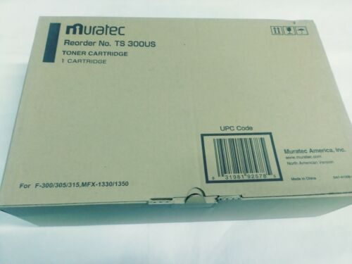 New Genuine Muratec TS 300US Toner Cartridge - Free Shipping
