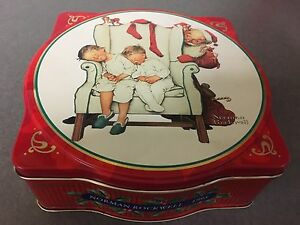 Norman Rockwell snickers tin