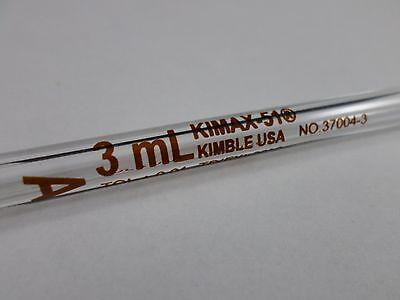 Kimble Kimax-51glass Td 3ml Class A Reusable Volumetric Bulb Pipette Pipet