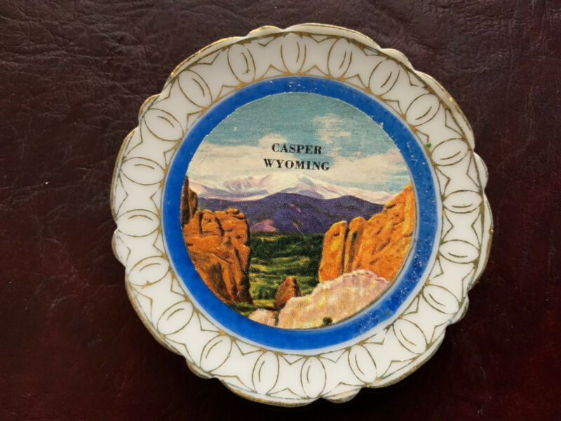 "Casper Wyoming Vintage Souvenir Plate 2.5"" Dia"