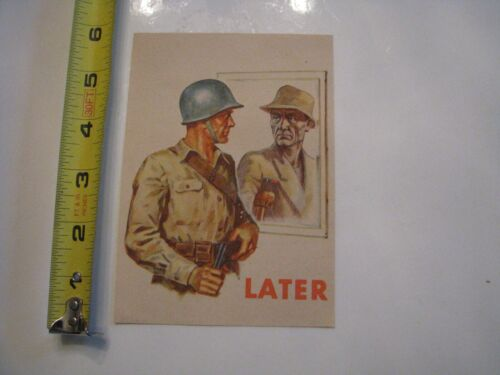 WWII WW2 GERMAN PROPAGANDA LEAFLET LATER 5 QUESTIONS FOR AMERICAN SOLDIERS