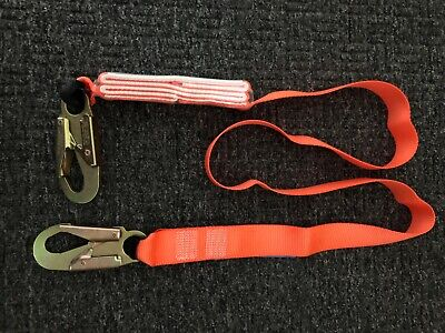 Fall Protection Safety Lanyard 6 Internal Shock-absorbing With Snap Hooks
