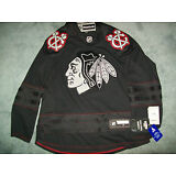 chicago Blackhawks size Medium M Black Ice Jersey Reebok mens men's Alternate