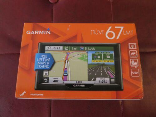 "Garmin Nuvi 67LMT 6"" Screen W/Lifetime Maps Brand New"