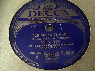 VERA LYNN : OLD FOLKS AT HOME / STAR DUST.  UK.78.rpm (1946)
