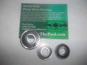 Swimming pool pump motor bearing set of 2 10000353 6203 Pool motor bearings
