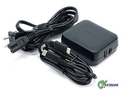 Targus 65W USB-C & USB-A AC Power Adapter For Tablet & Laptop Charger (APA104BT)