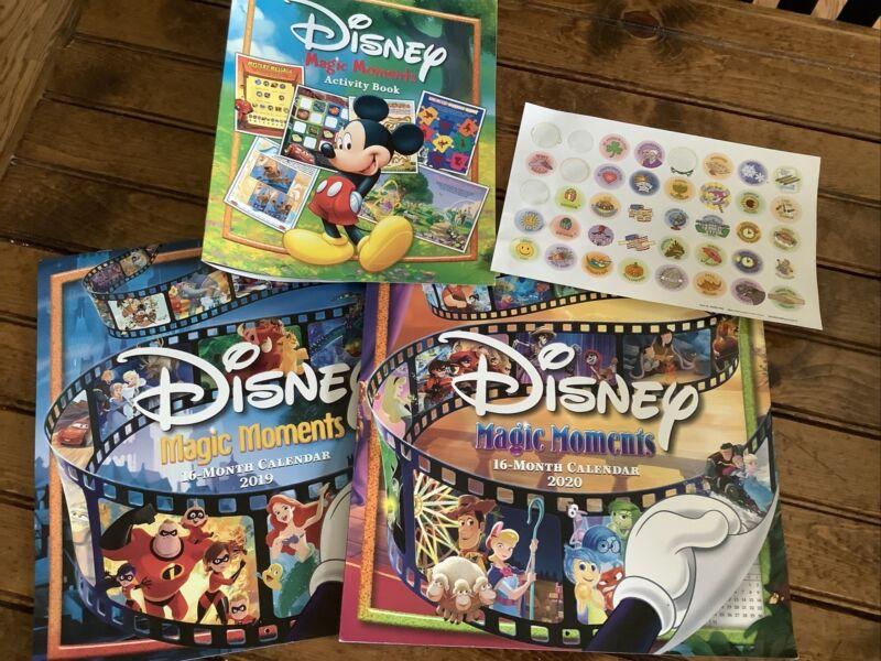 disney magic moments calendars 2019, 2020, and activity book