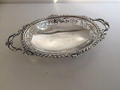Antique Sterling Silver Bon Bon Dish - London 1902 Sterling Bon Bon Dish