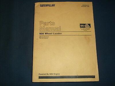 Cat Caterpillar 908 Compact Wheel Loader Parts Manual Book Sn 8bs1-up