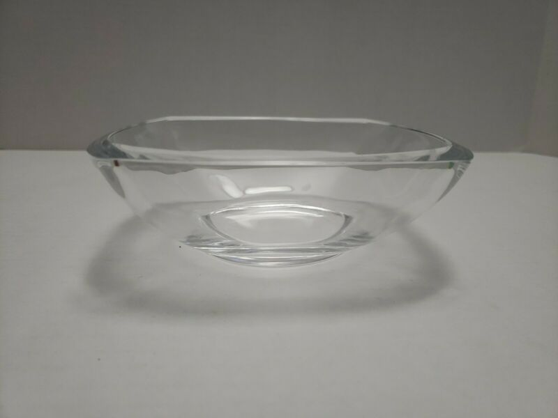 """Delta Skymiles 6.5"""" Square Clear Tiffany & Co Bowl / Candy Dish"""