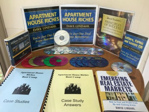DAVID LINDAHL APARTMENT HOUSE RICHES BUNDLE OF STUFF! MANUALS, 18 CD