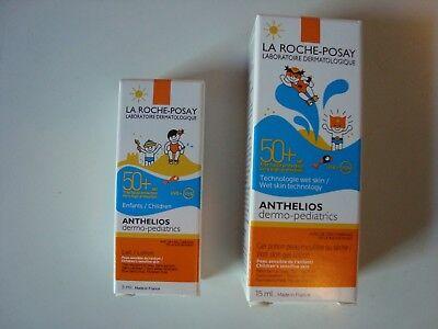 La Roche Posay Sonnencreme SPF 50 + for kids 15 ml und 3 ml, Luxusproben