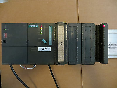 Siemens 6es7 316-2ag00-0ab0 Simatic S7-300 Cpu 316-2 Dp Wio Modules Rack Tested