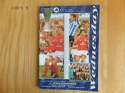 Sheffield Wednesday v Spora Luxembourg - UEFA Cup - 16th Sep 1992