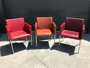 Red toned chairs, chrome legs [237] Braybrook Maribyrnong Area Preview