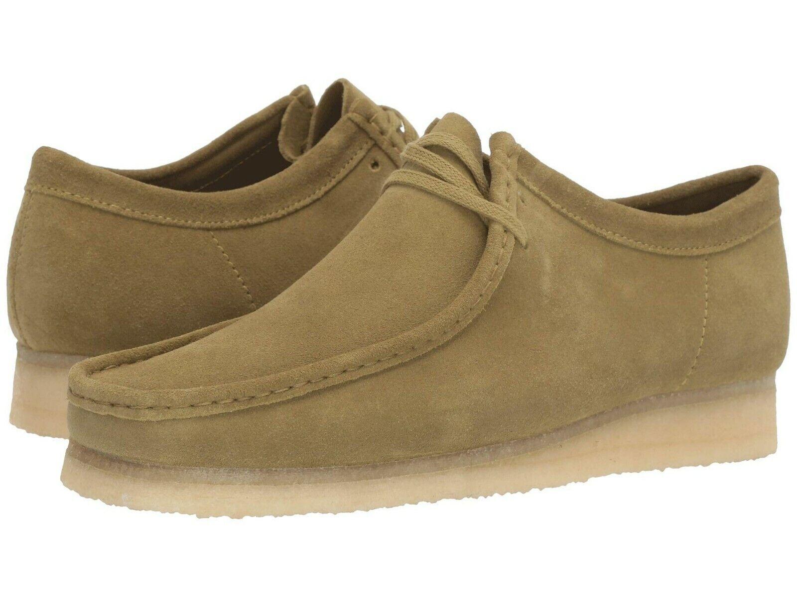 Men's Shoes Clarks Originals WALLABEE Suede Moccasins 46513 KHAKI