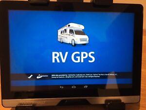 GPS tablette véhicule récréatif motorisé camion Rand McNally