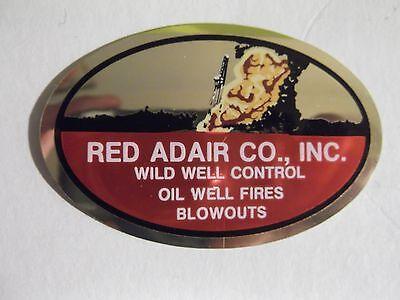 Red Adair Hard Hat Sticker 1980's OilField Sticker Mining Union
