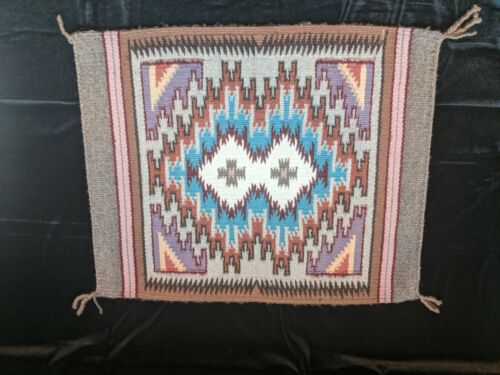 Burntwater Navajo wool rug hand woven by Emily Blake.