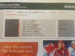 Carrie Underwood ticket
